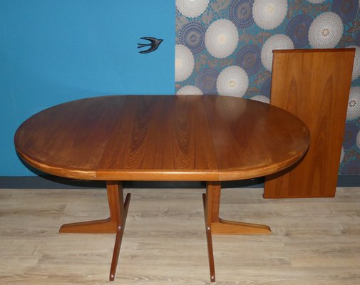 Mid Century Danish Round Extendable Teak Dining Table From Spottrup 1960s For Sale At Pamono