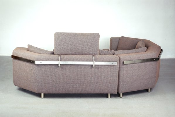 Sectional Corner Sofa with Headrest and Ottoman by Rolf Benz