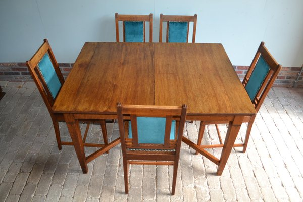Antique Oak Dining Table Chairs From