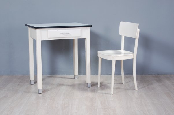 Office Cabin Interior Design, Dining Table Chairs Set 1950s Set Of 2 For Sale At Pamono