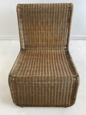 Vintage Rattan Easy Chair Attributed to Ikea, 1960s