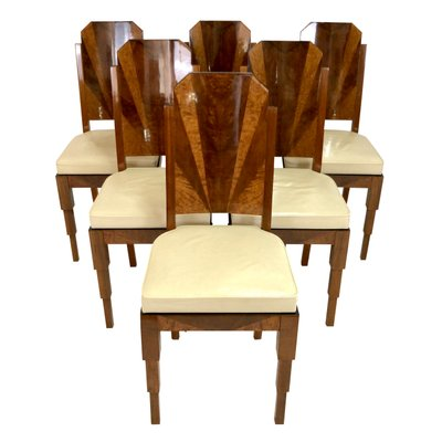 Cucina Letters Kitchen Decor, Art Deco French Dining Chairs Set Of 6 For Sale At Pamono