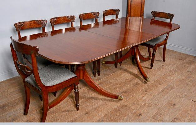 Regency Style Mahogany Pillar Dining Table For Sale At Pamono