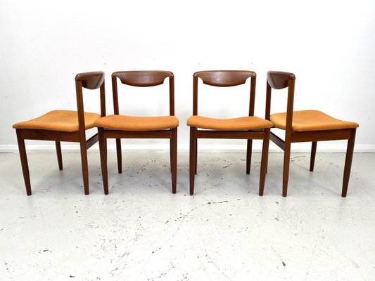 Teak Dining Chairs 1960s Set Of 4 For Sale At Pamono