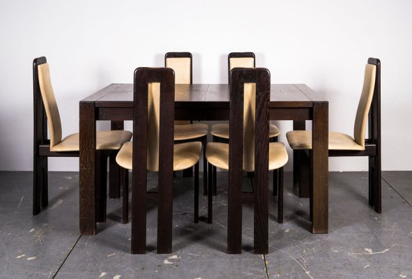 Mid Century Dining Table Chairs Set For Sale At Pamono