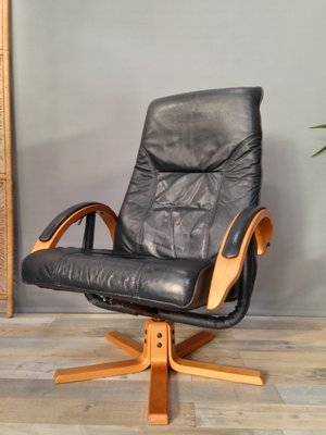 Vintage Danish Adjustable Reclining Swivel Lounge Chair By Jorgen Kastholm For Unico For Sale At Pamono