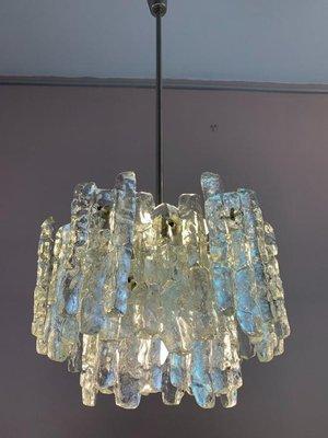Ice Glass Chandelier by J.T. Kalmar for Kalmar, 1960s