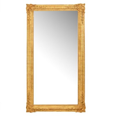 Antique Gilded And Gold Leaf Frame Rectangle Wall Mirror For Sale At Pamono