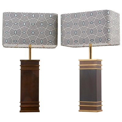 Mid Century Monumental Table Lamps From Vereinigte Werkstatten Munchen Germany 1960s Set Of 2 For Sale At Pamono