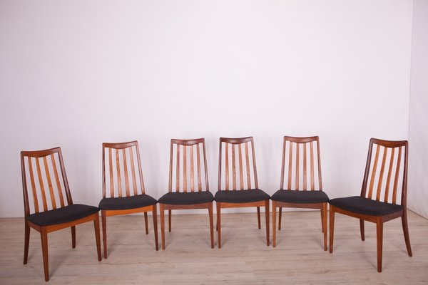 Fabric And Teak Dining Chairs By Leslie Dandy For G Plan 1960s Set Of 6 For Sale At Pamono