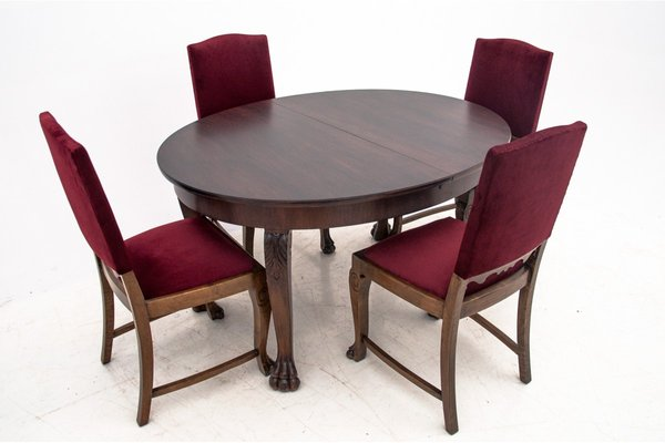 Antique Dining Table Chairs Set Set Of 5 For Sale At Pamono