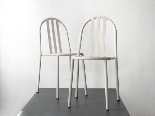 White Dining Chairs By Robert Mallet Stevens Set Of 2 1