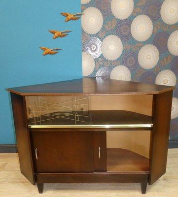 Mid Century Corner Bar Cabinet 1960s, Corner Bar Furniture