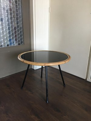 Vintage Glass Steel Side Or Coffee Table By Rohe Noordwolde 1950s For Sale At Pamono