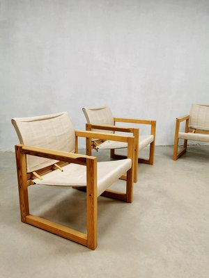 Mid Century Diana Safari Chairs & Table by Karin Mobring for Ikea, 1970s, Set of 4
