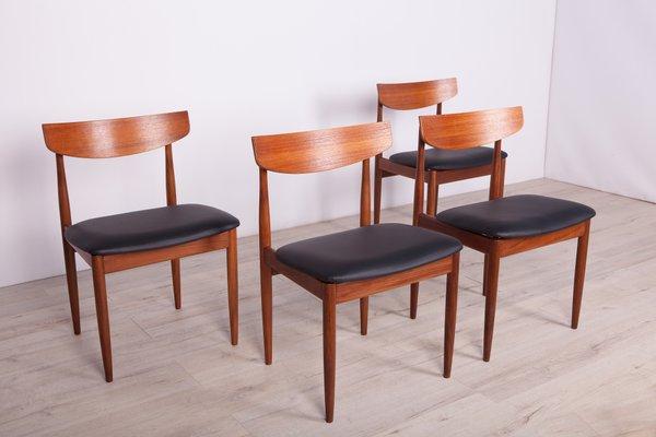 Vintage Teak Dining Chairs By Ib Kofod Larsen For G Plan 1960s Set Of 4 Bei Pamono Kaufen