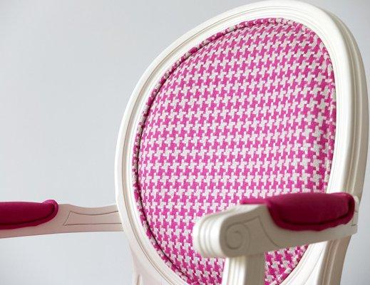 Weißer Stuhl Aus Buchenholz Mit Designers Guild Bezug Von Photolui