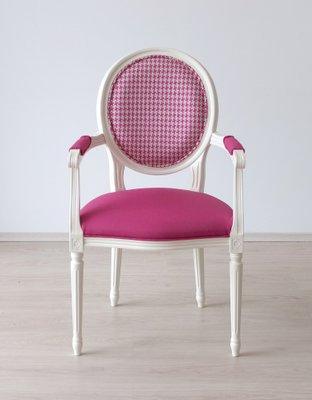 Chaise Blanche en Hêtre avec Tissu d\'Ameublement Designers Guild de ...