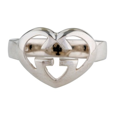 Love Britt Sterling Silver Interlocking Heart Ring By Gucci 1997 For Sale At Pamono