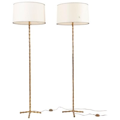 Bamboo Floor Lamps From Maison Baguès France 1960s Set Of 2 For Sale At Pamono