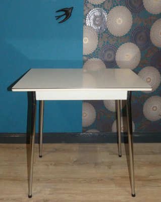 Mid Century Formica And Chrome Dining Table 1950s For Sale At Pamono