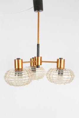Large Mid Century Copper And Glass Pendant Lamp For Sale At Pamono