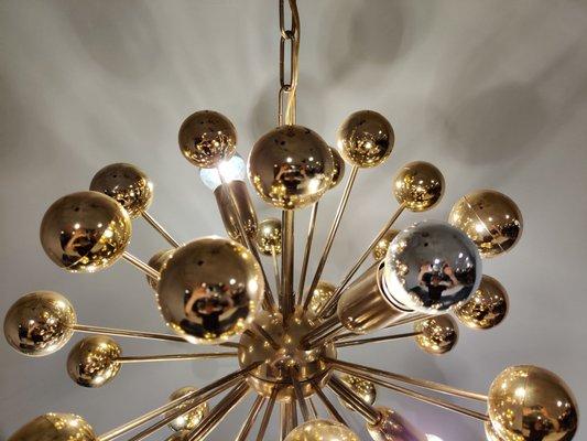 Vintage Brass Sputnik Chandelier 1970s Bei Pamono Kaufen