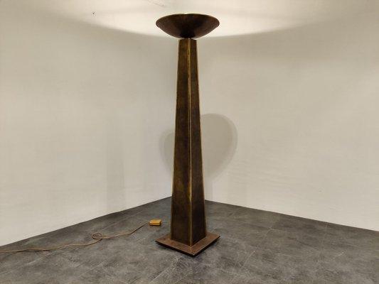 Large Torchiere Floor Lamp From Belgochrom 1980s Bei Pamono Kaufen