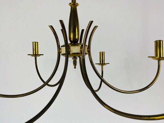 Mid Century Brass 6 Arm Sputnik Chandelier 1960s Bei Pamono Kaufen