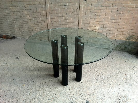 Tavoli Da Pranzo In Vetro : Tavolo da pranzo in vetro di marco zanuso per zanotta 1979 in