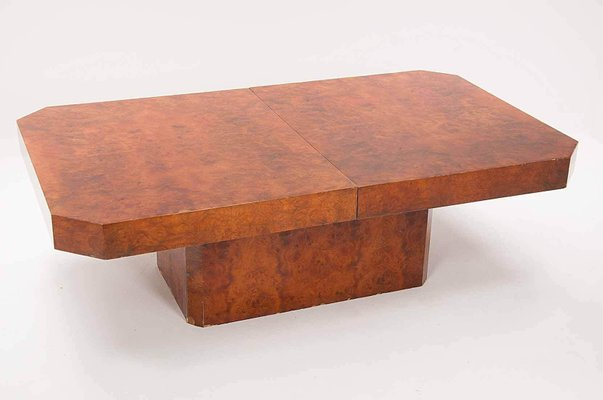 Coffee Table In Burl Wood From Mario Sabot Italy 1970s For Sale At Pamono