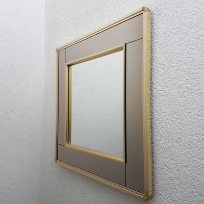Gold Plated Square Mirror With 2 Tone Mirrored Glass From Belgo Chrom Dewulf Selection 1980s For Sale At Pamono