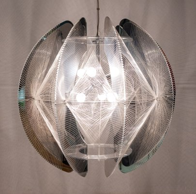 Large Pendant Lamp by Paul Secon for Sompex, 1980s