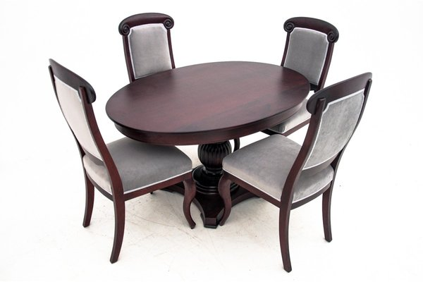Antique Chippendale Style Dining Table Chairs Set Set Of 5 For Sale At Pamono