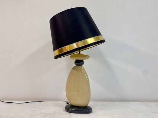 Pebble table lamp ceramic François