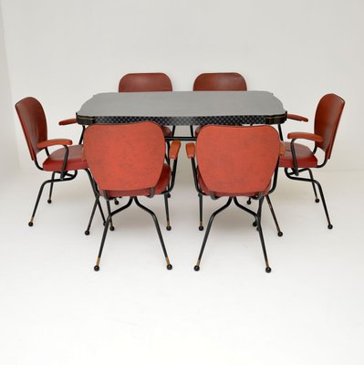 Vintage Atomic Style Dining Table Chairs Set 1950s Set Of 7 For Sale At Pamono