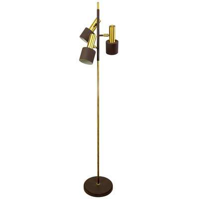 Mid Century Modern Adjustable Floor, Brown Floor Lamp