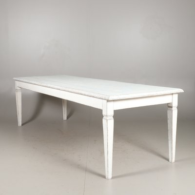 Large Square Dining Table With Tapered Legs 1930s For Sale At Pamono