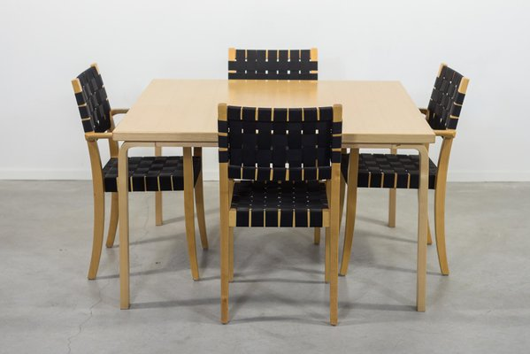 Scandinavian Modern Dining Table Chairs Set By Alvar Aalto For Artek For Sale At Pamono
