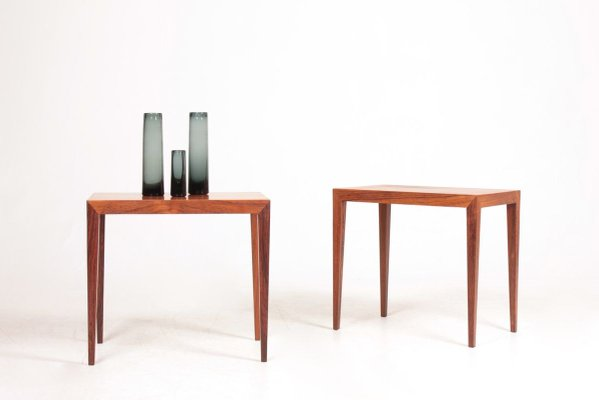Mid Century Danish Rosewood Side Tables by Severin Hansen for Haslev Møbelsnedkeri, 1950s, Set of 2