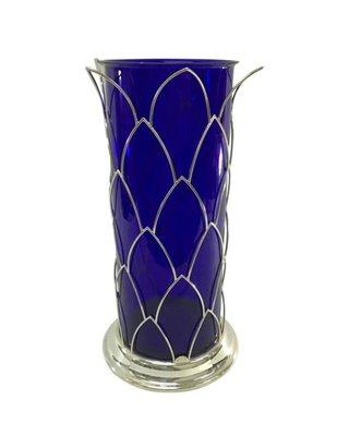 Vintage Italian Blue Murano Glass Vase From Cleto Munari 1980s For