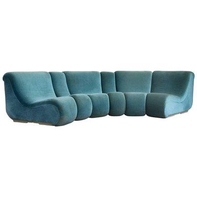 Peachy Modular Turquoise Vario Pillo Sofa Set By Burkhardt Vogtherr For Rosenthal 1970S Bralicious Painted Fabric Chair Ideas Braliciousco