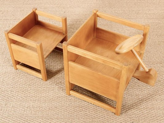 Scandinavian Reversible Children S Table Chair By Kay Bojesen 1930s Set Of 2 For Sale At Pamono