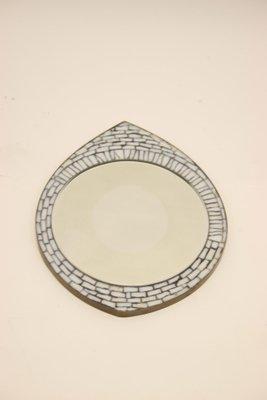 Il Mosaico E Gli Specchi 3.Specchio Da Parete Eye Con Mosaico E Pietre Bianche Anni 60 In Vendita Su Pamono