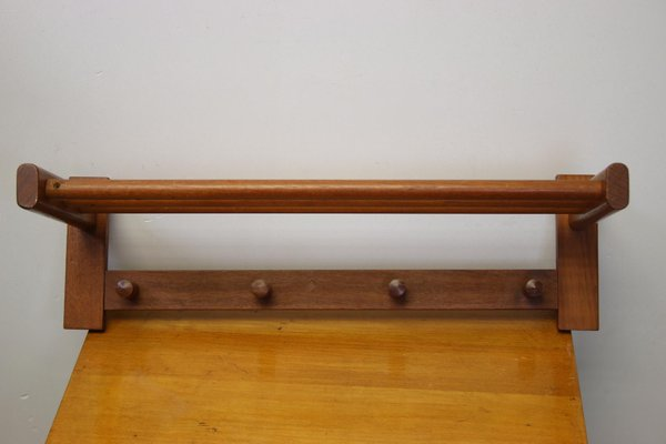 Rosewood Model 133 Wall Mounted Coat Rack By Aksel Kjersgaard 1950s For Sale At Pamono
