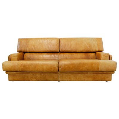 Cognac Leather Sofa By Marco Milicich For Baxter Arcon 1970s For Sale At Pamono