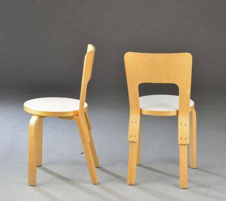 Attrayant Vintage Beech Chairs By Alvar Aalto For Artek, Set Of 6 3