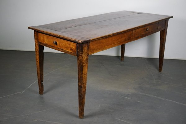 Antique Chestnut French Farmhouse, Vintage French Farmhouse Dining Table