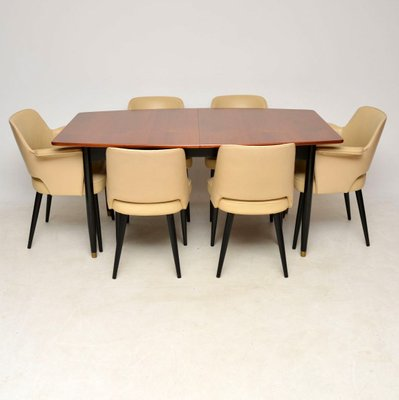 Vintage Dining Table Chairs Set By Robin Day For Hille 1950s Set Of 7 For Sale At Pamono