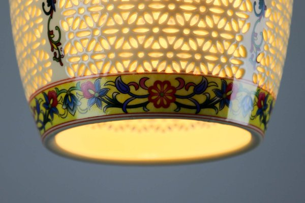 Oriental Ceramic Pendant Lamps 1980s Set Of 2 For Sale At Pamono